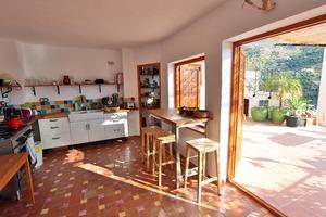 Large kitchen onto terrace