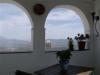 Moorish arches on balcony