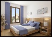 Sample bedroom interior - 67m Duplex - Casa Al Misbah
