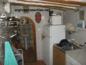 kitchen area of the small house