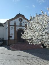 Local church in the village square