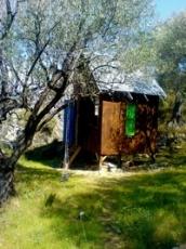 Land and hut