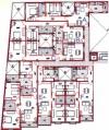 Floor plans for apartments a, b, c, d, e & f