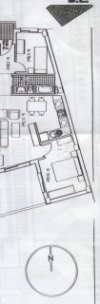 Floor plan for apartment 1F