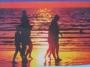 Sunset on Adra Beach